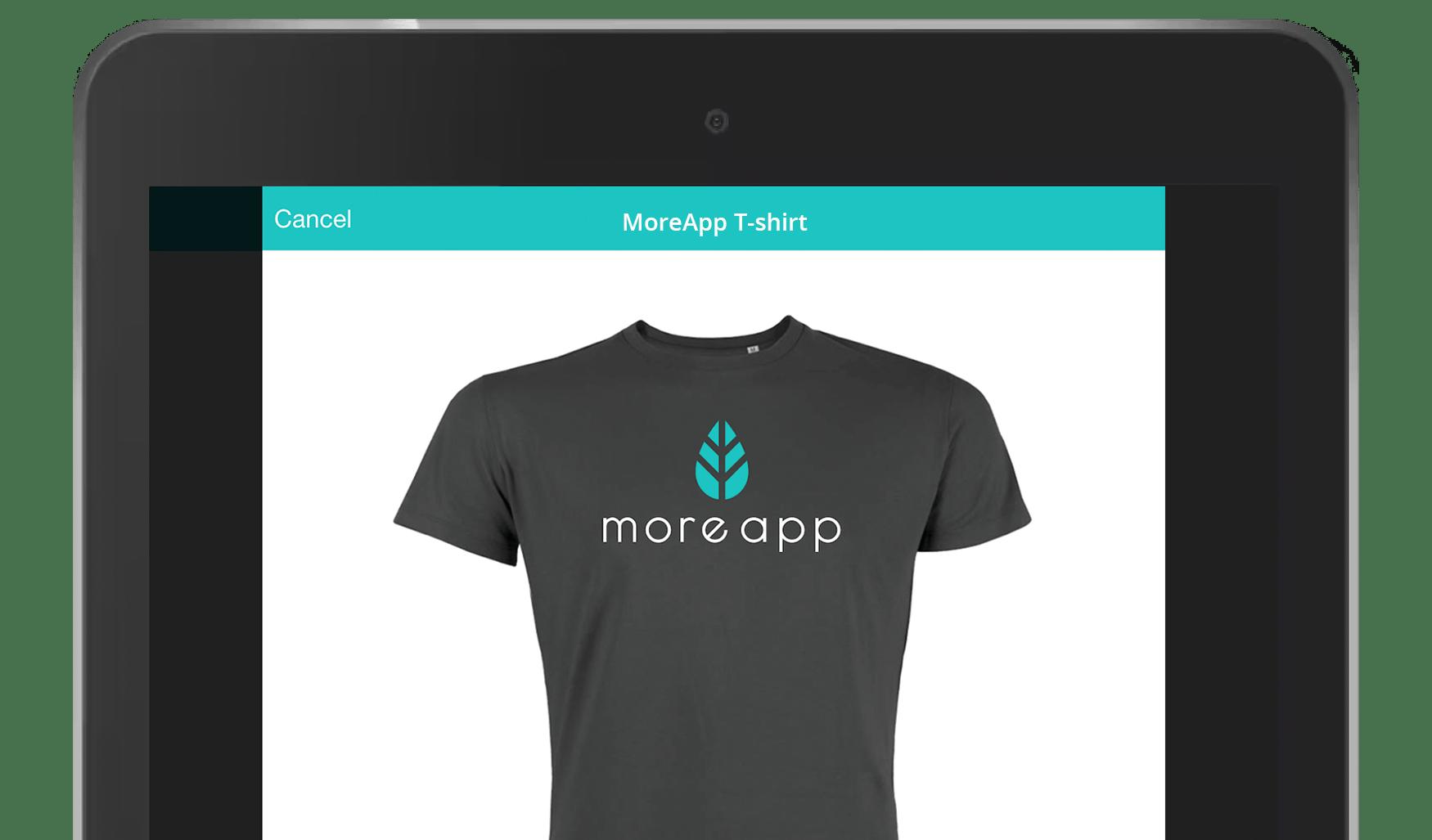 MoreApp order app form