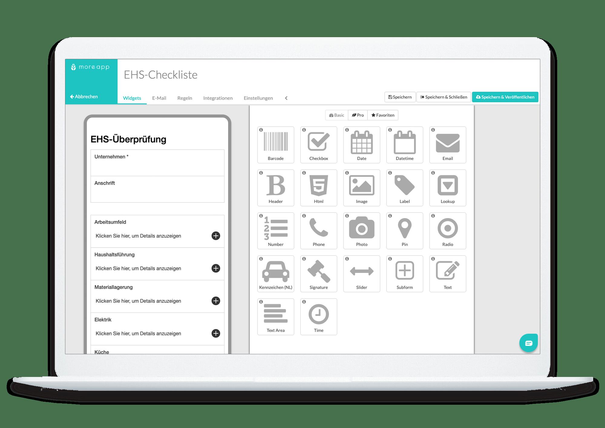MoreApp Form Builder DE_EHS Checkliste