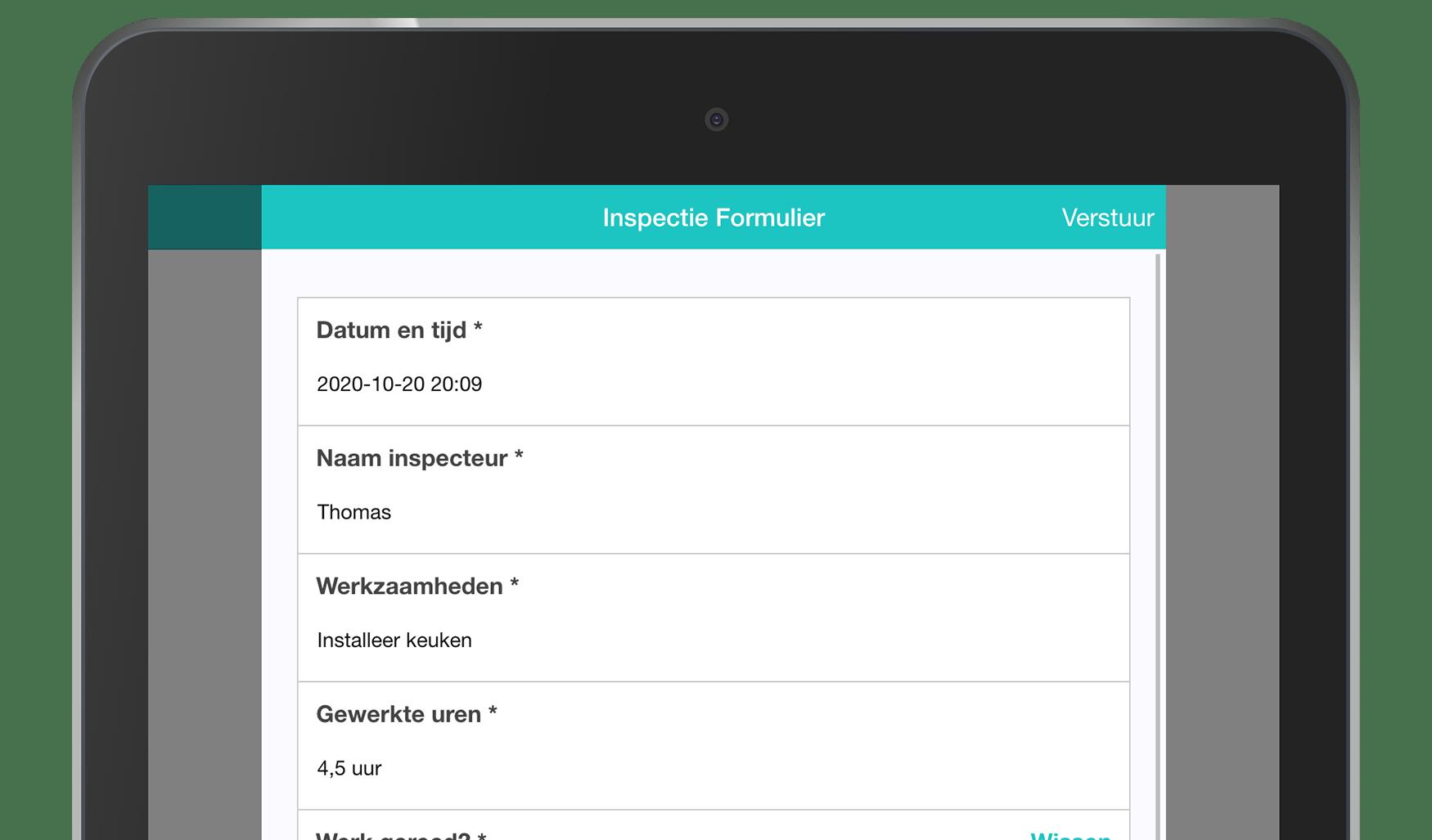 MoreApp Inspectie formulier