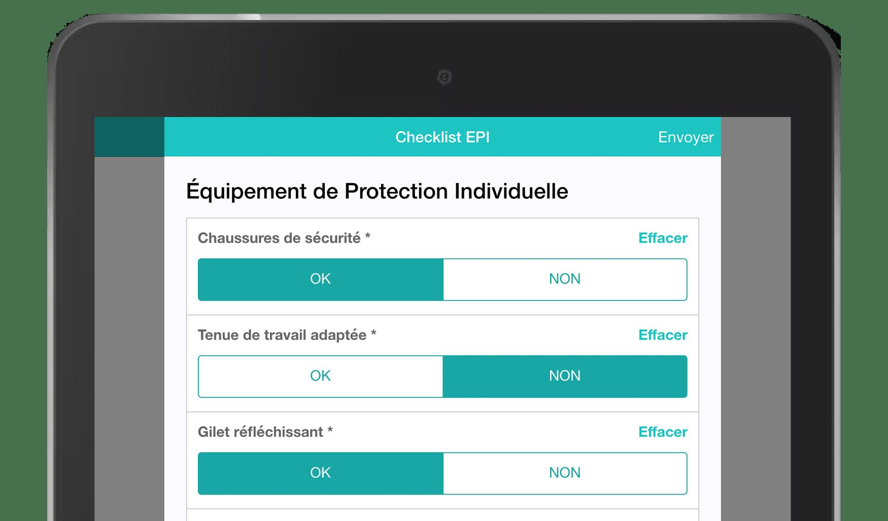 Application Formulaires Checklist EPI MoreApp