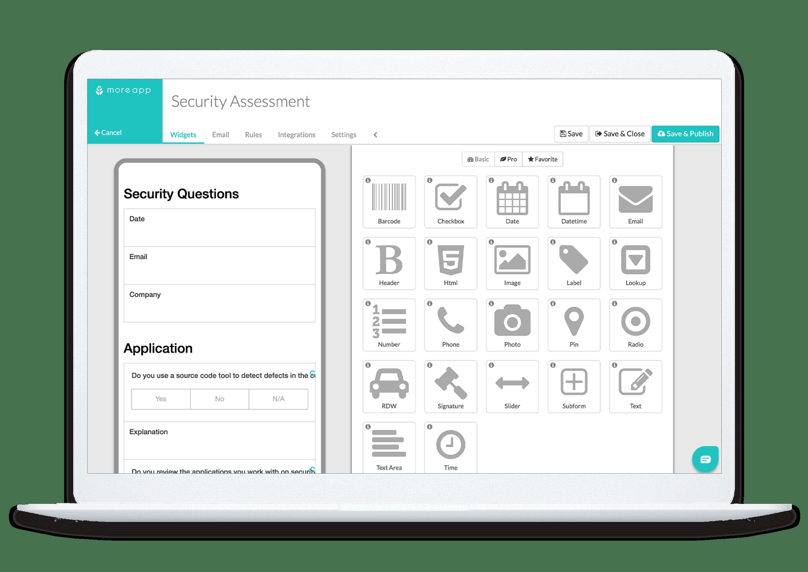 MoreApp Platform Security Assessment App