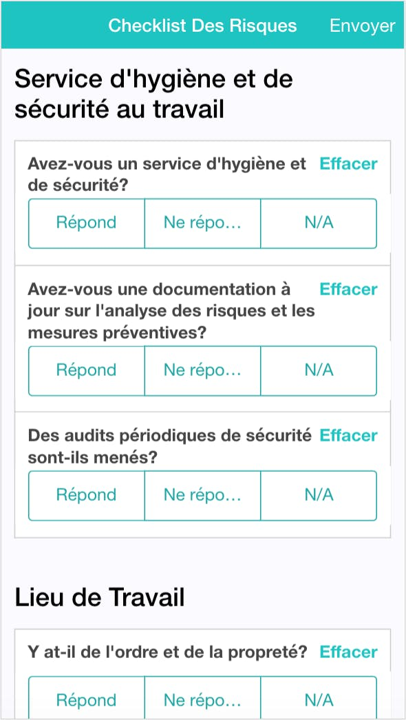 Application de Checklist