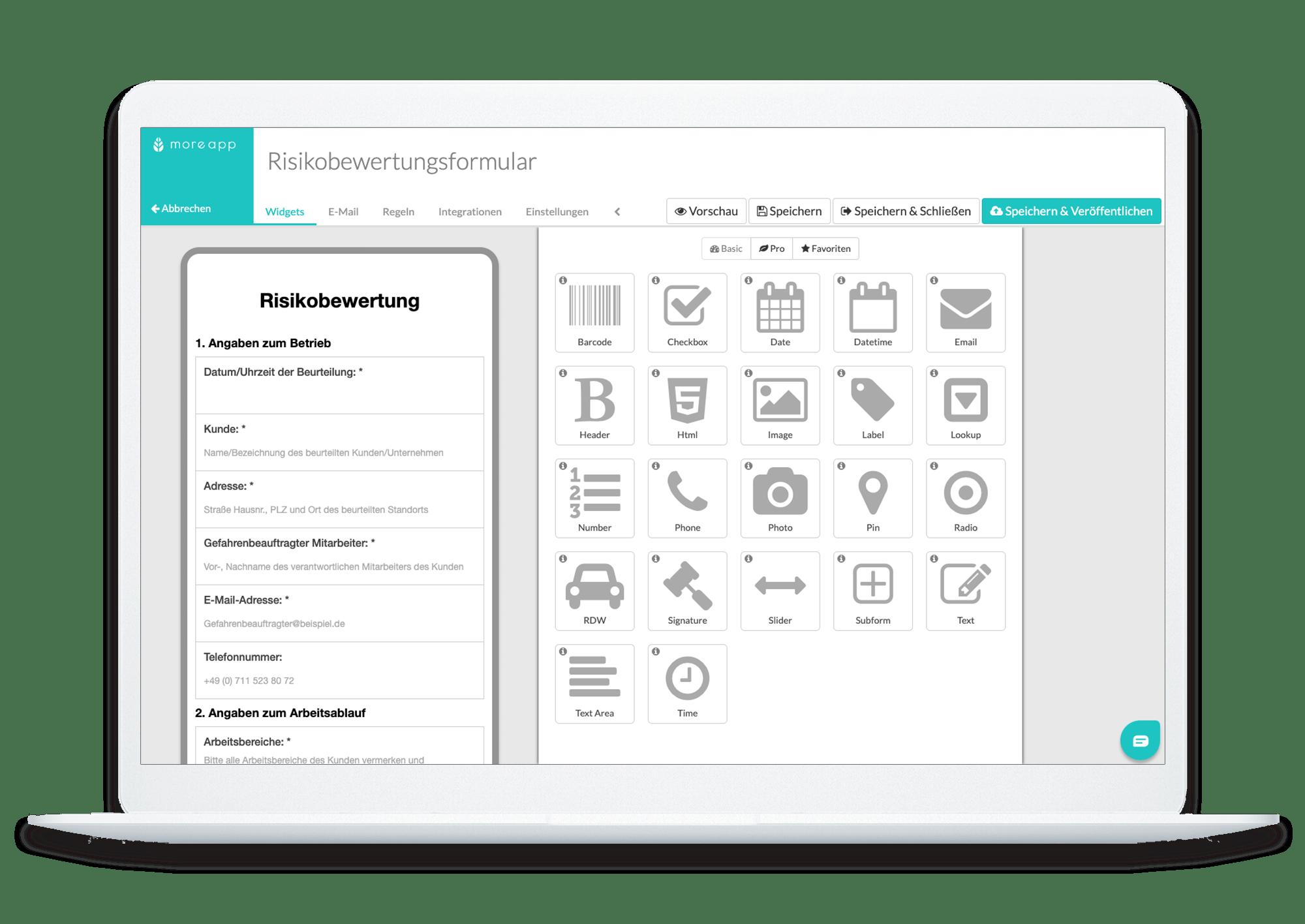 MoreApp Plattform Risikobewertung