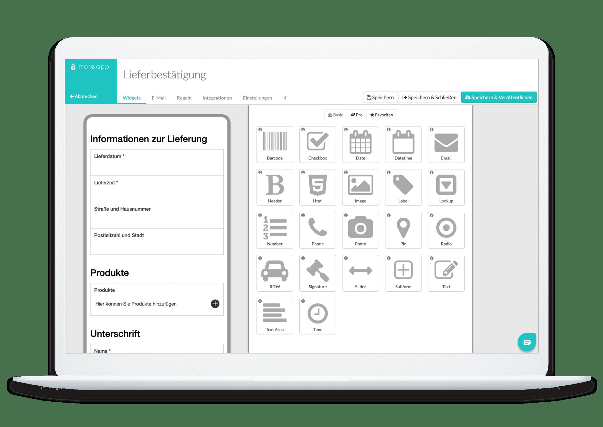 Delivery information in platform (for Computer)