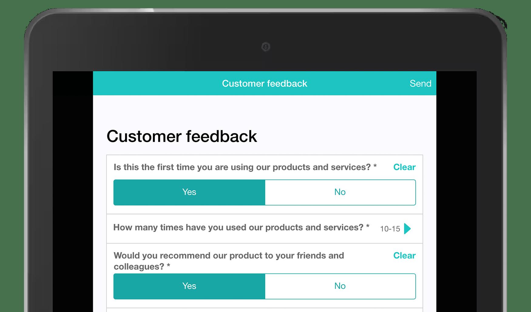 MoreApp Customer Feedback form