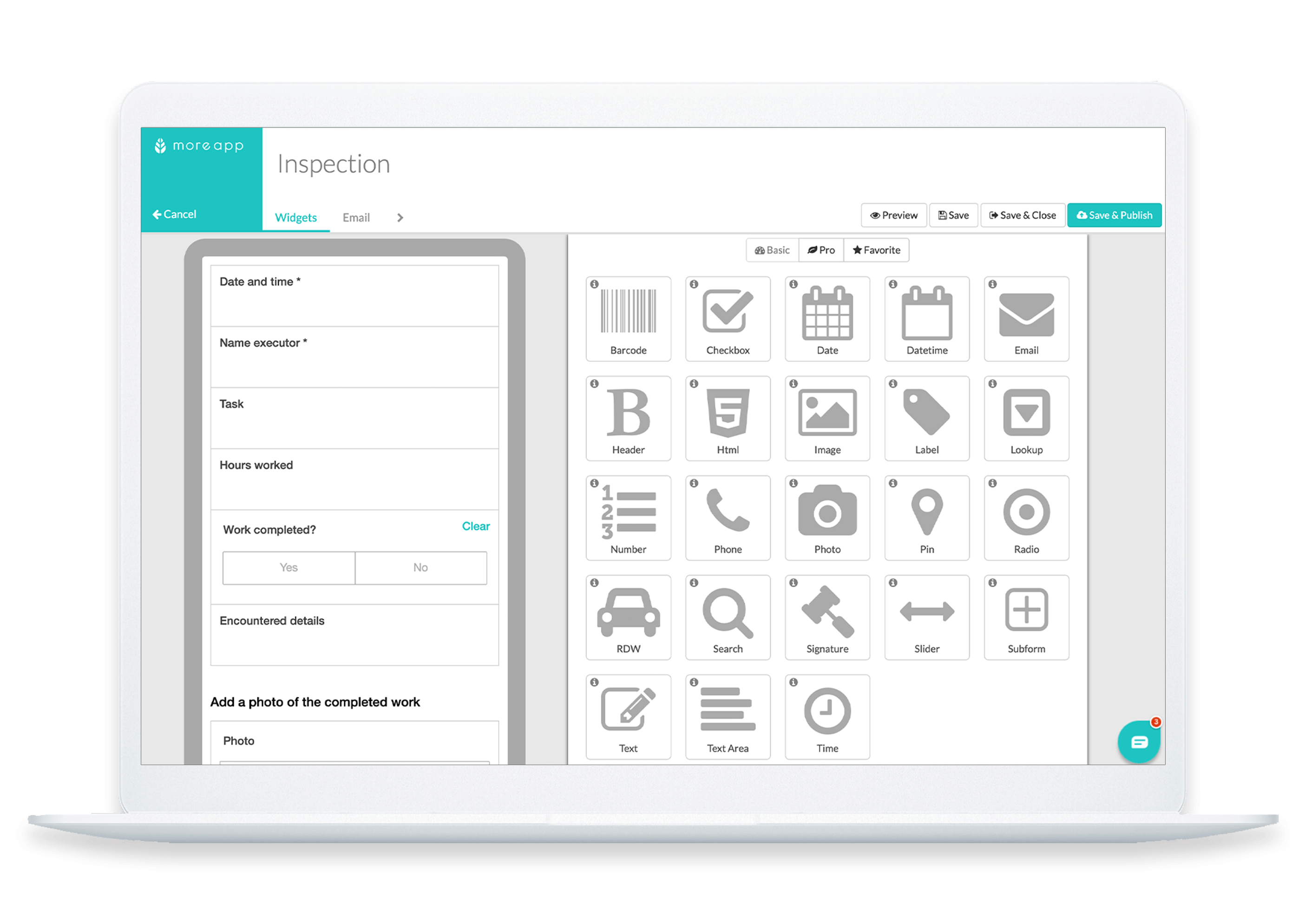 MoreApp Formbuilder Inspection Form