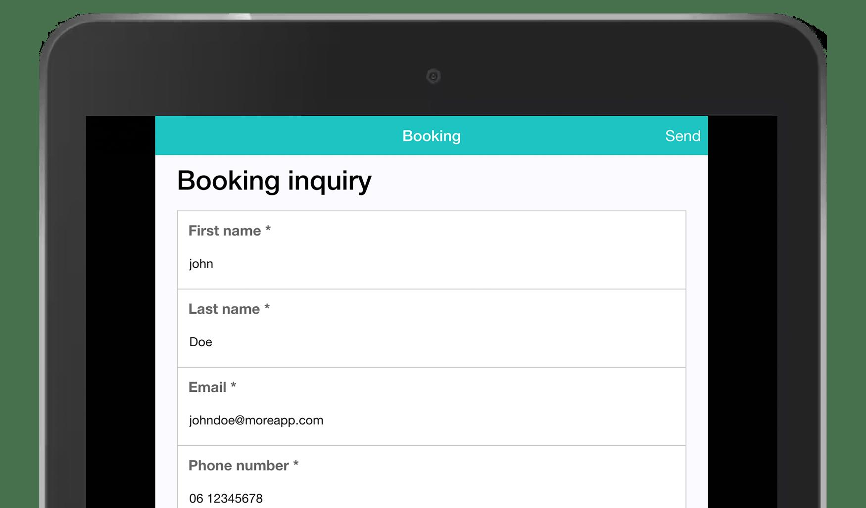 MoreApp Booking App