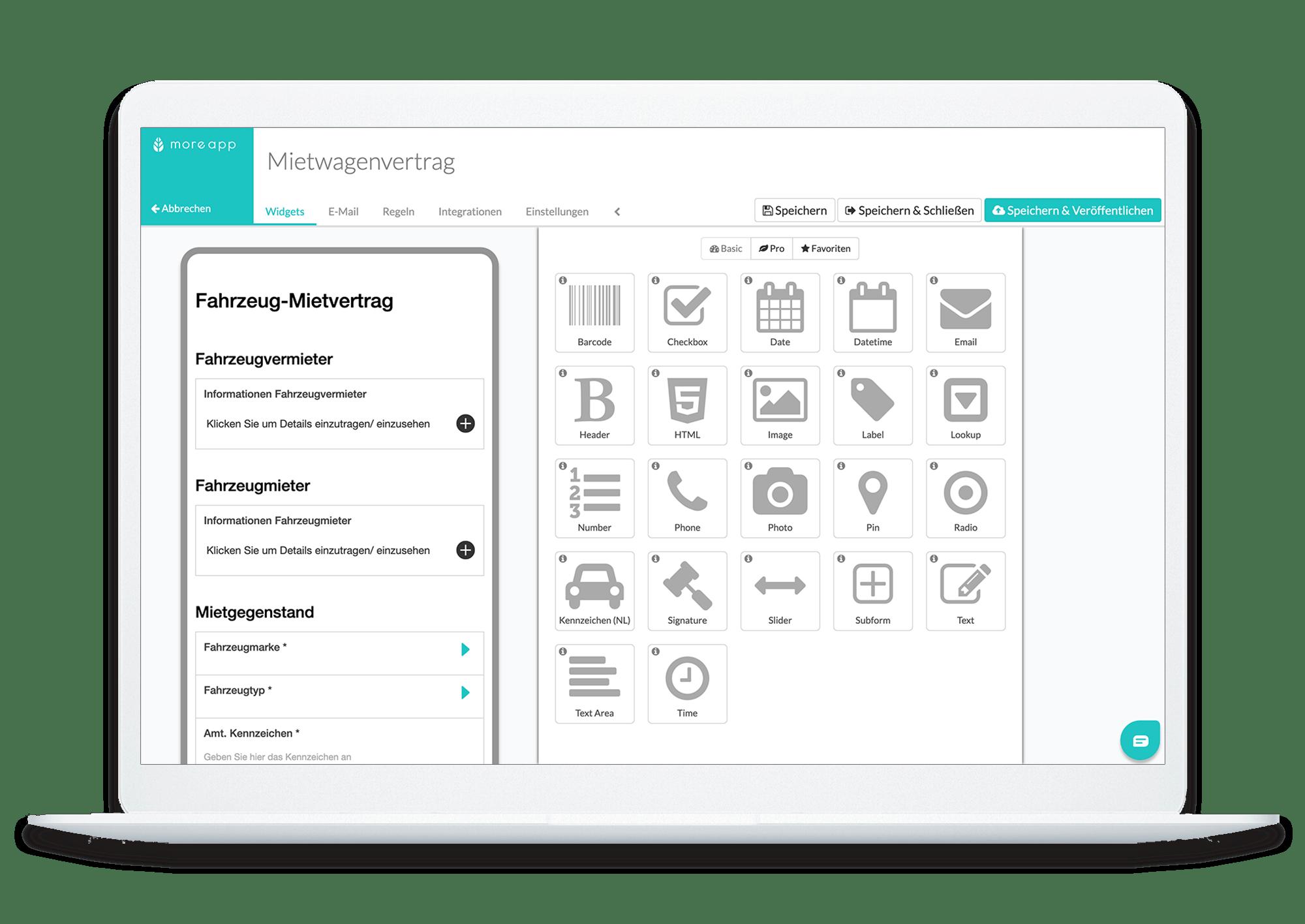 MoreApp Form Builder DE_Mietwagenvertrag