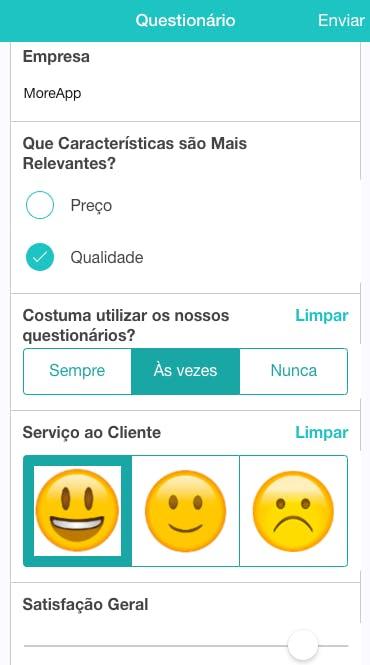 Aplicativo para Questionários | MoreApp