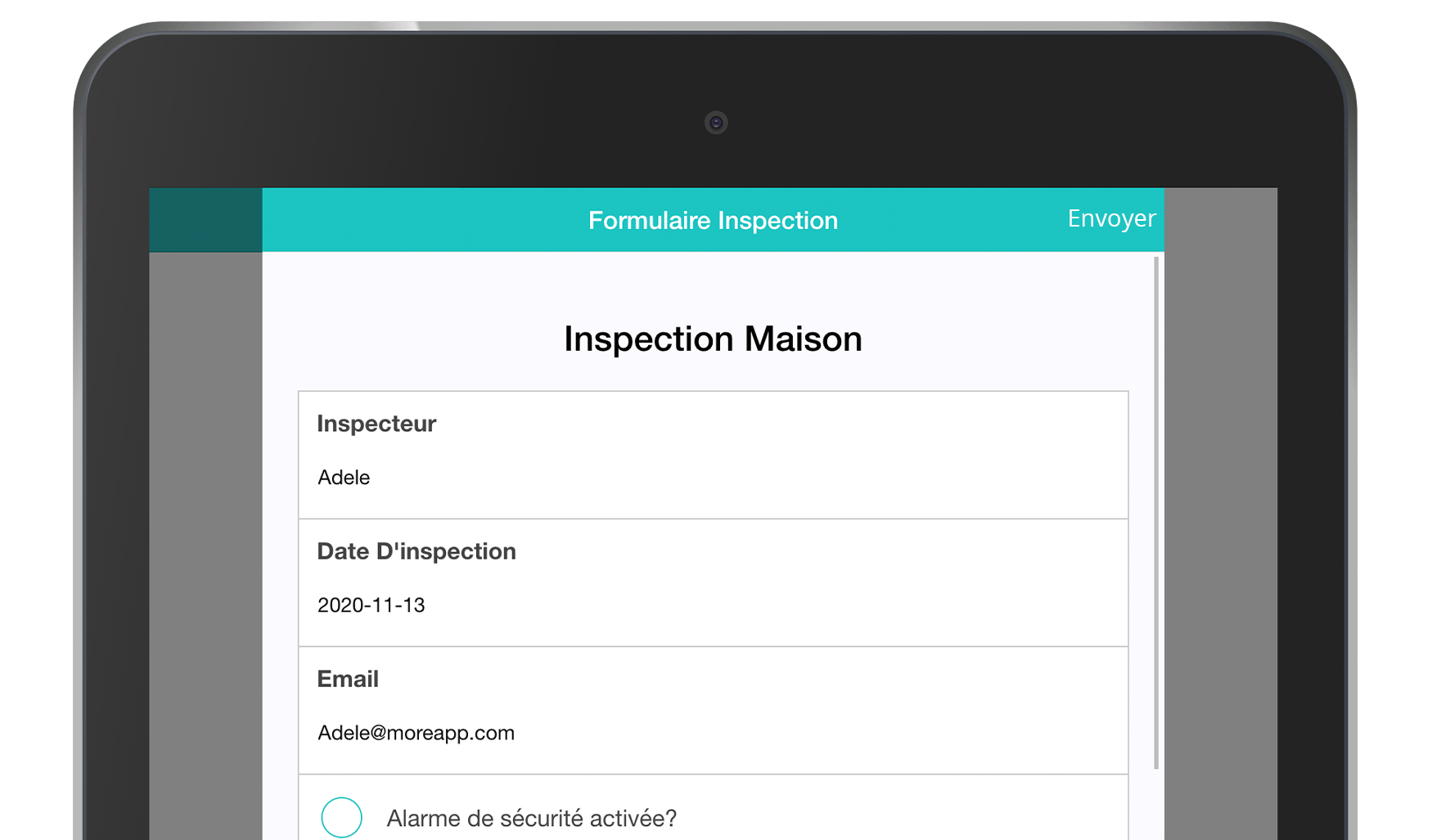 Application Formulaires Inspection MoreApp