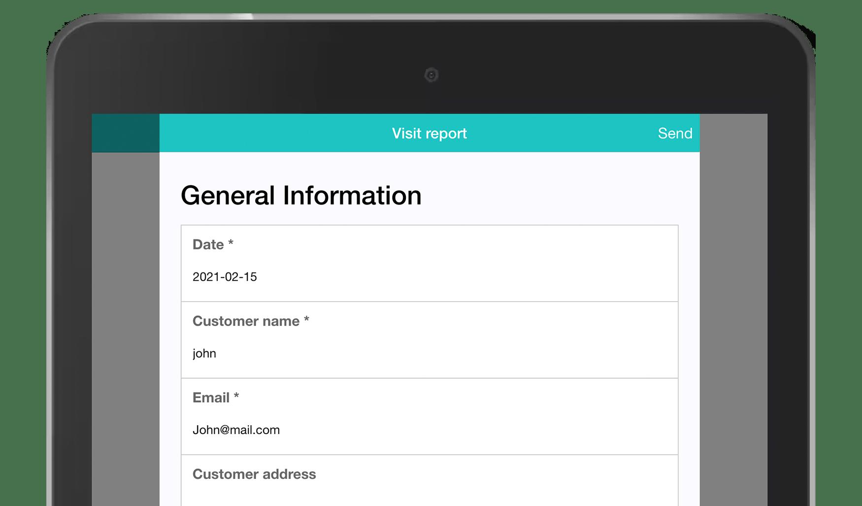 MoreApp Visit report app