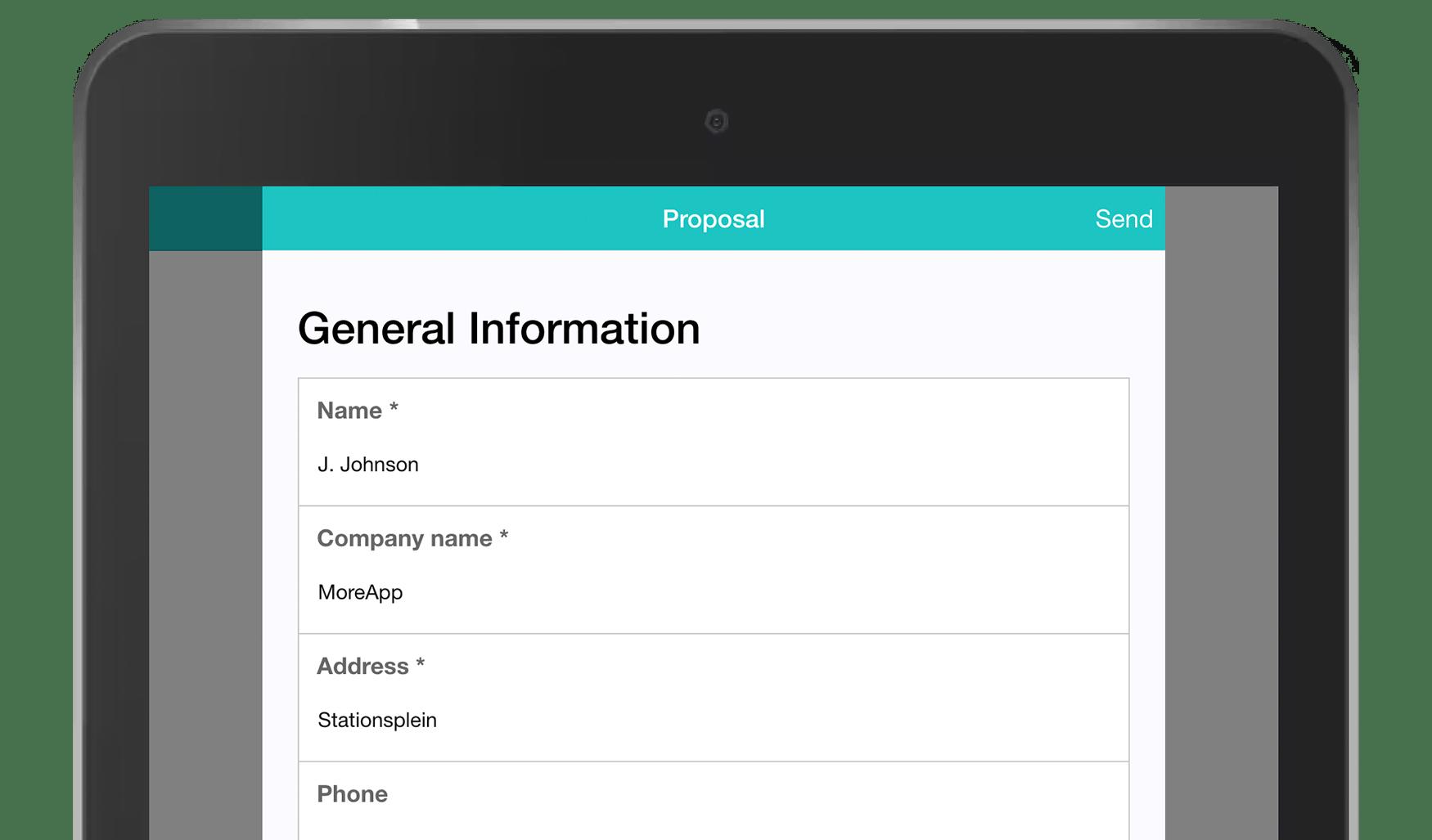 MoreApp Proposal App