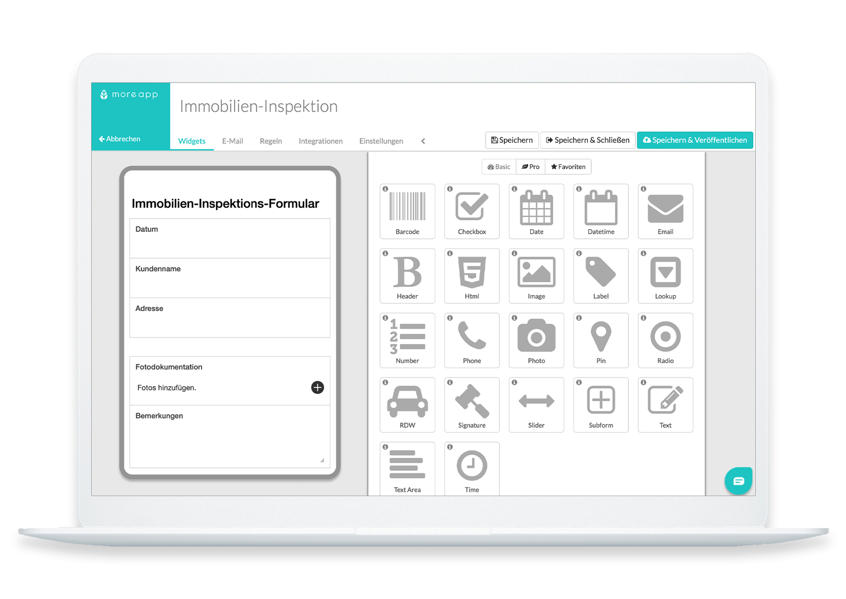 MoreApp Plattform Immobilien-Inspektions-App