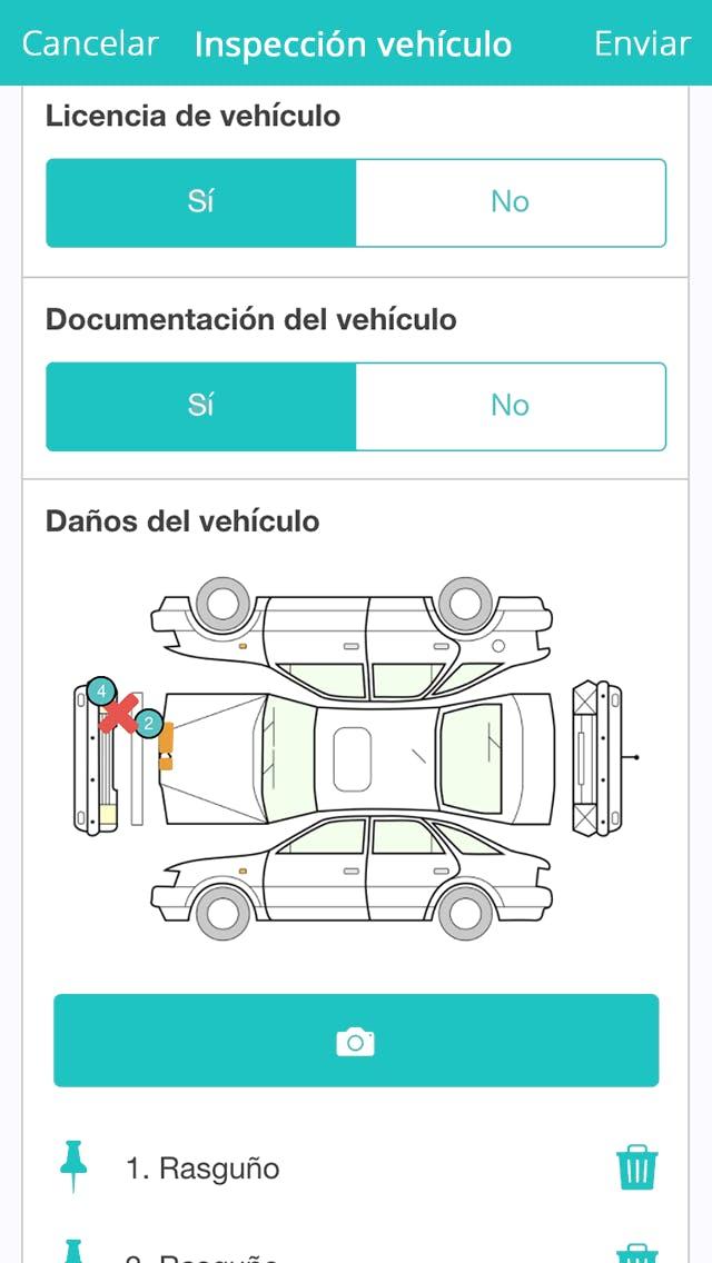 Formulario Control de Vehículo