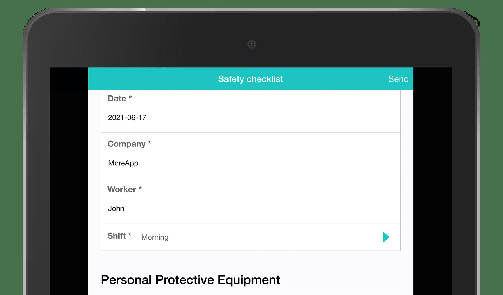 MoreApp Work Order Form