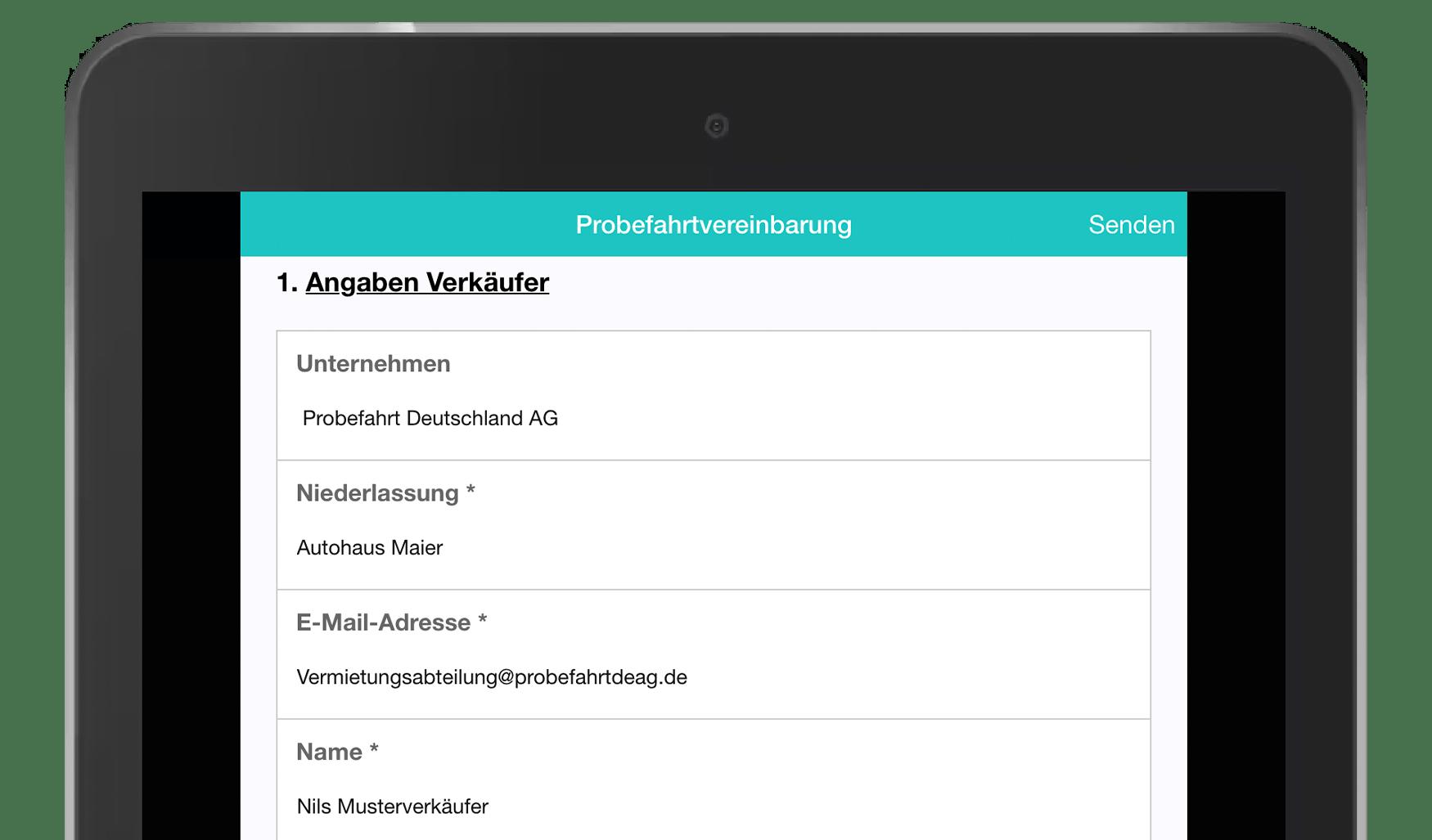 MoreApp Probefahrtvereinbarungs-App