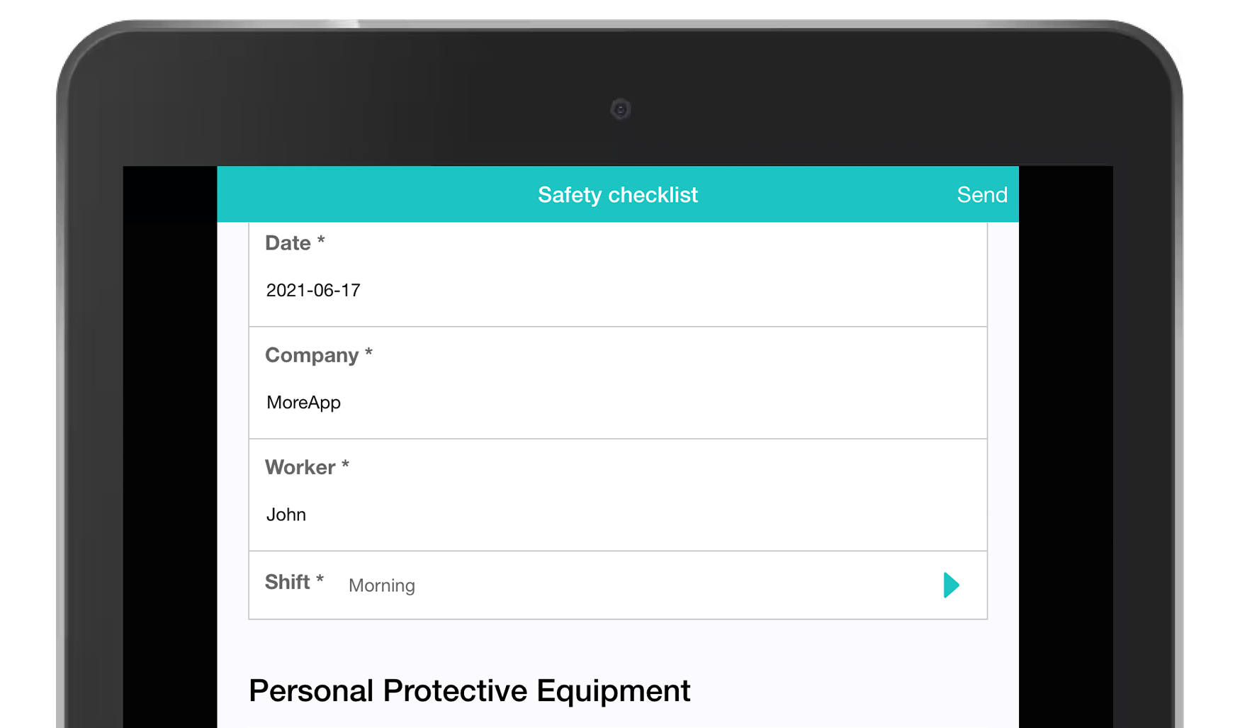 MoreApp Safety Checklist App