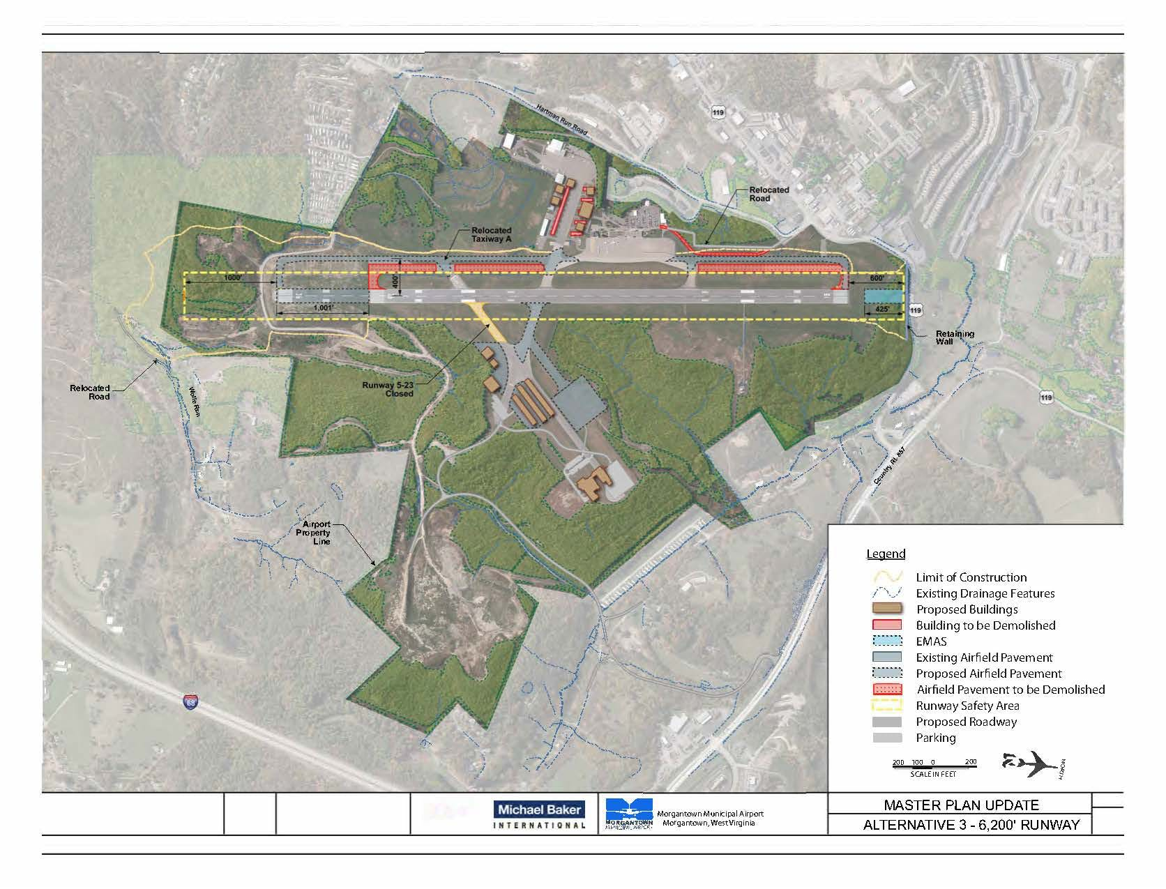 An overview of the runway extension project at the Morgantown Municipal Airport.
