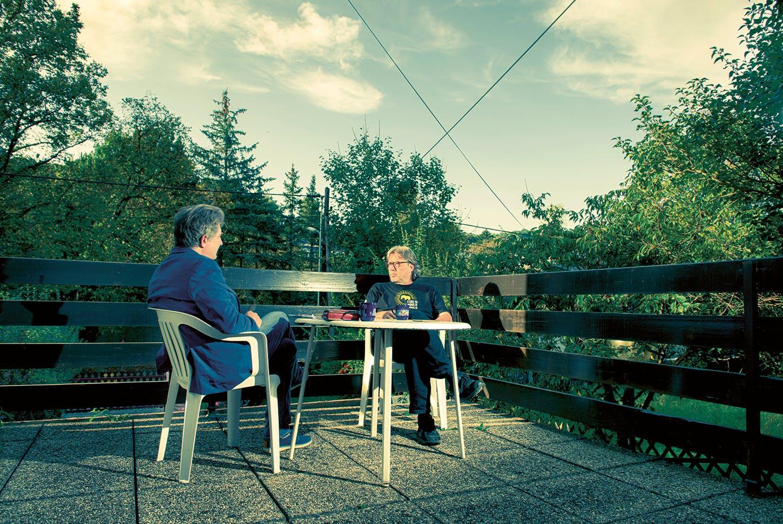Airan Berg mit morgen-Autor Thomas Trenkler