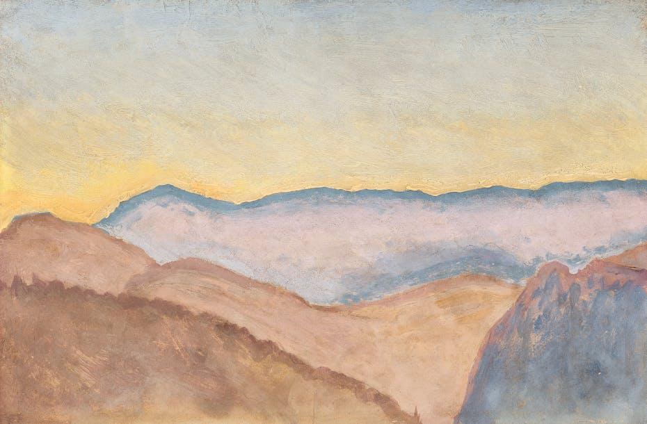 Kolo Moser Blick zur Rax 1913