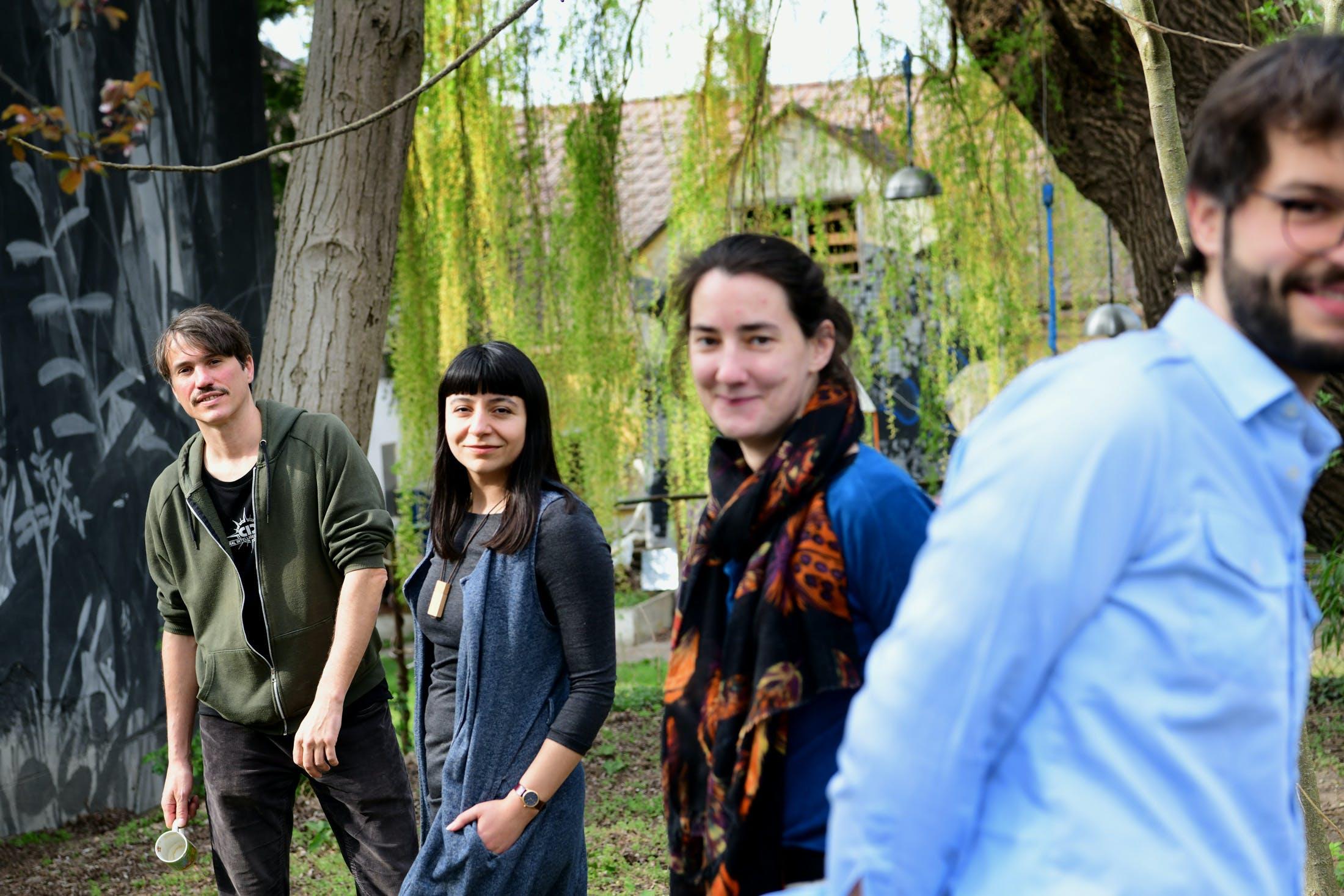 Georg Schütz, Mine Bayazit, Serena Laker und Roland Ruhm vom Kulturverein LAMES (v. l.)