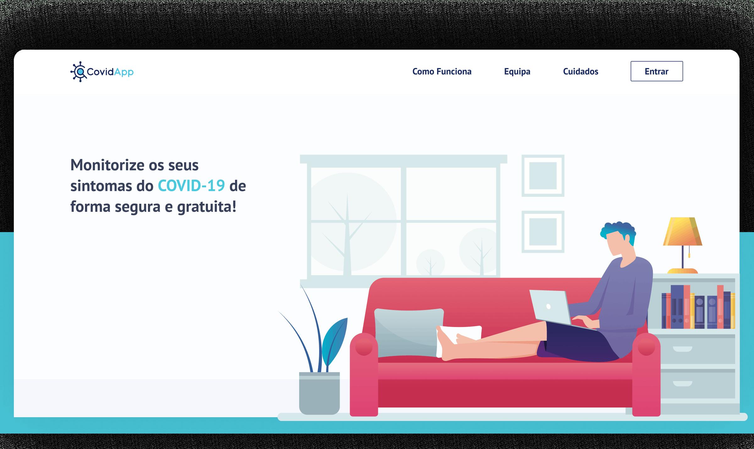 homepage covidapp