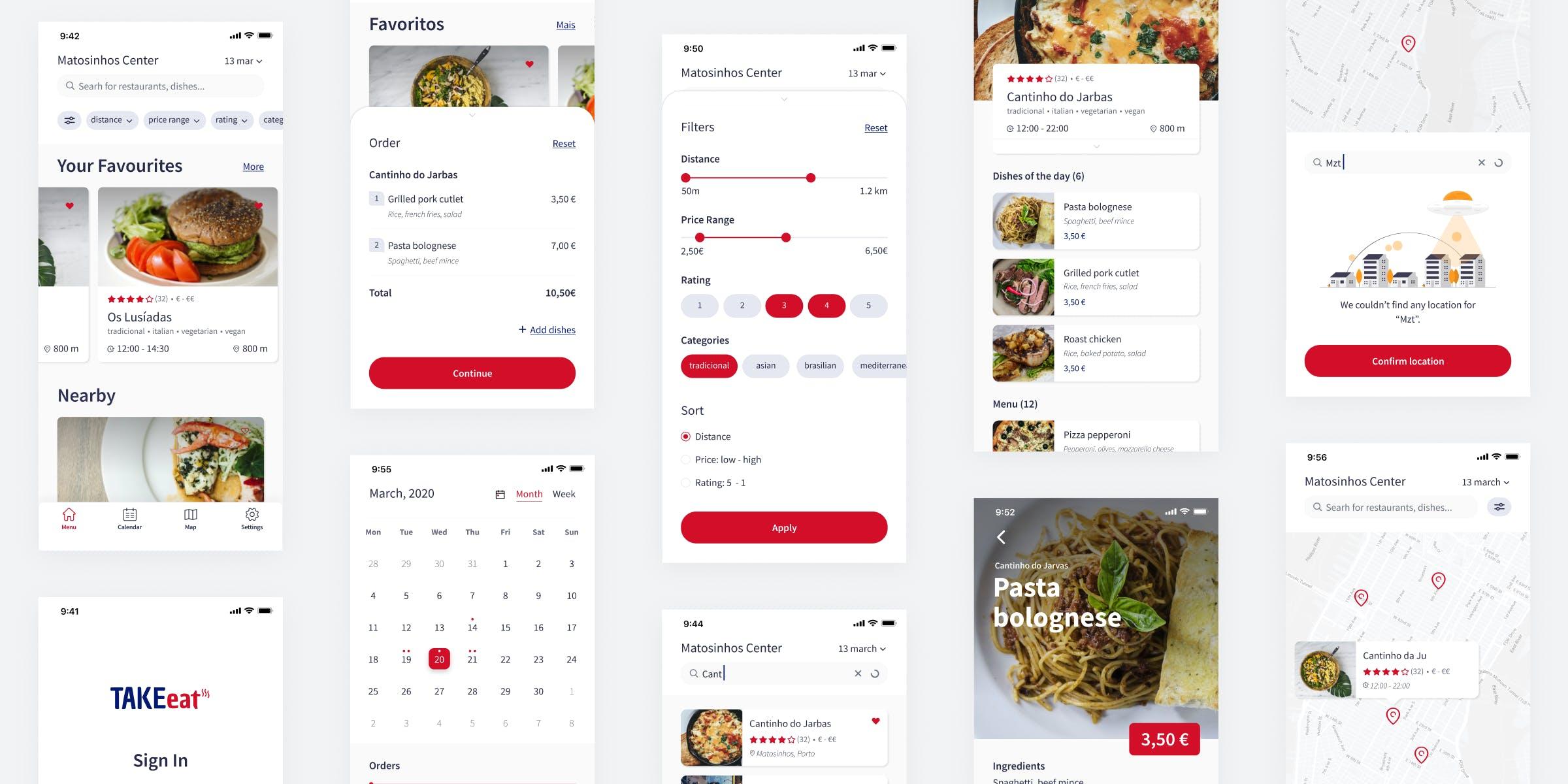 take-eat mobile app by Mosano