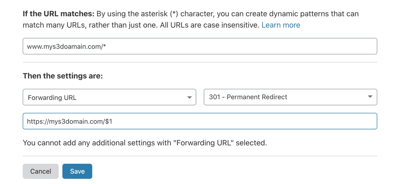 cloudflare page rule configuration