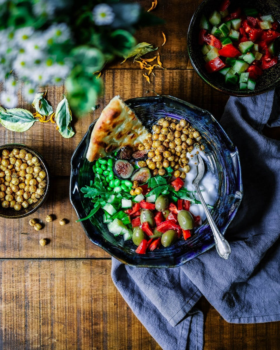"""A delicious and colourful plant based dish. Eating a plant based diet could be the """"single biggest way"""" to reduce your environmental impact on earth"""