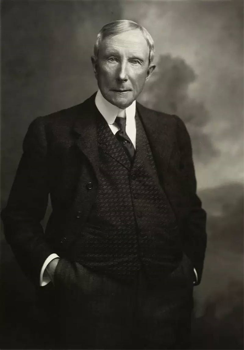 John D. Rockefeller, the wealthiest person in American history was known for his philantrophy.