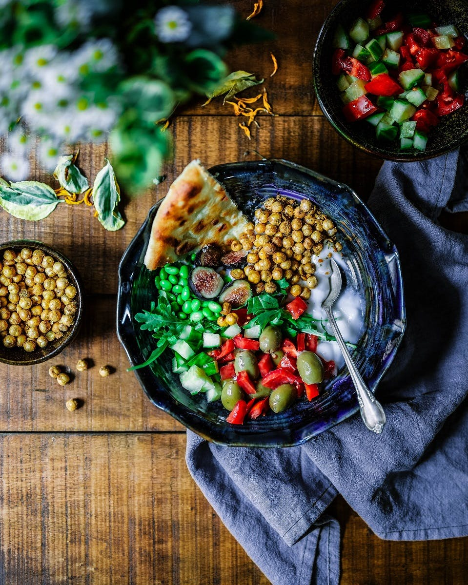 A colourful and healthy vegan salad