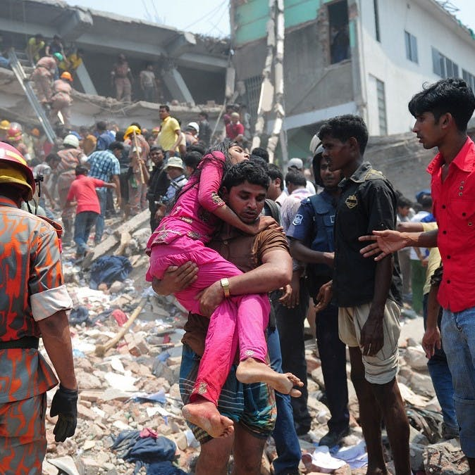 Raza Plaza clothing factory collapse. Ethical shopping can help prevent such future disasters.