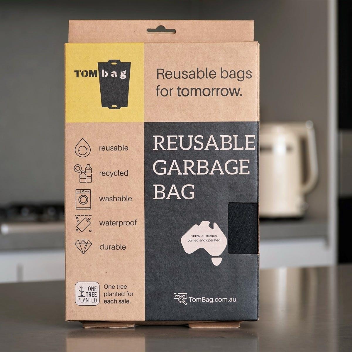 A reusable bin bag