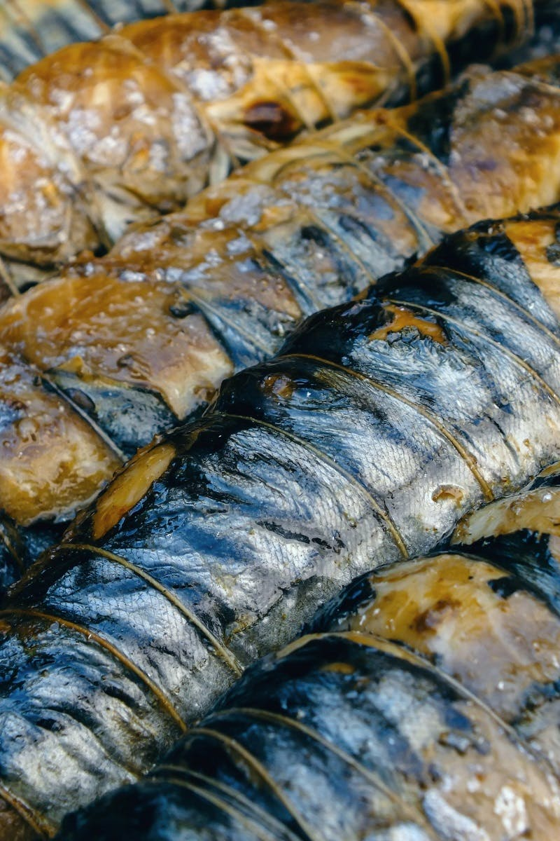 Grilled Sardines on a bbq. - An easy yet tasty pescatarian recipe.