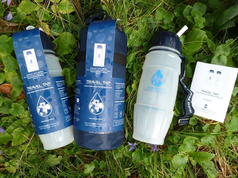 Travel Tap Water Purifier bottles. The no.1 sustainable travel essential.