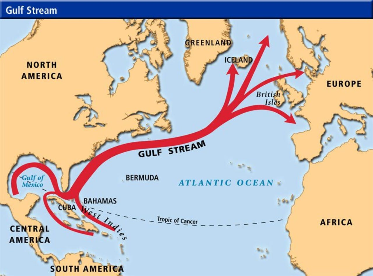 The Gulf Stream and its influence on Iceland\'s climate