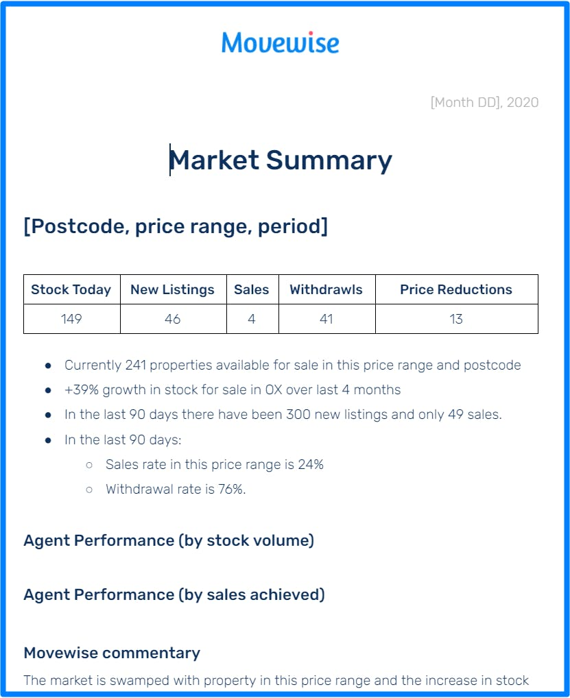 Movewise market report example
