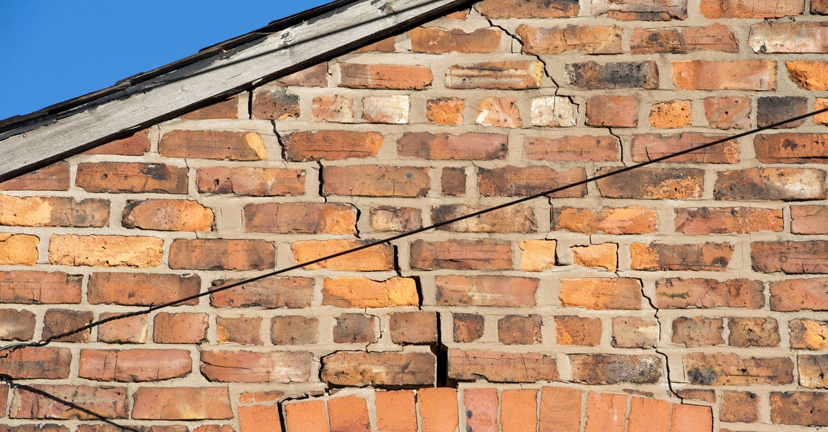 Cracks caused by subsidence