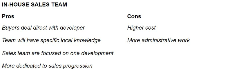 In-house sales team pros and cons