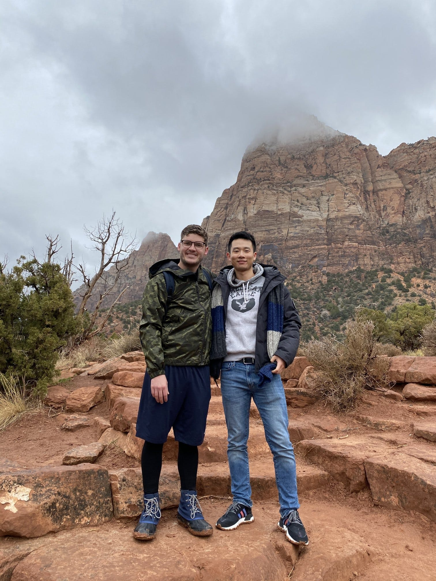 Dobbie and I at Mt. Zion, UT