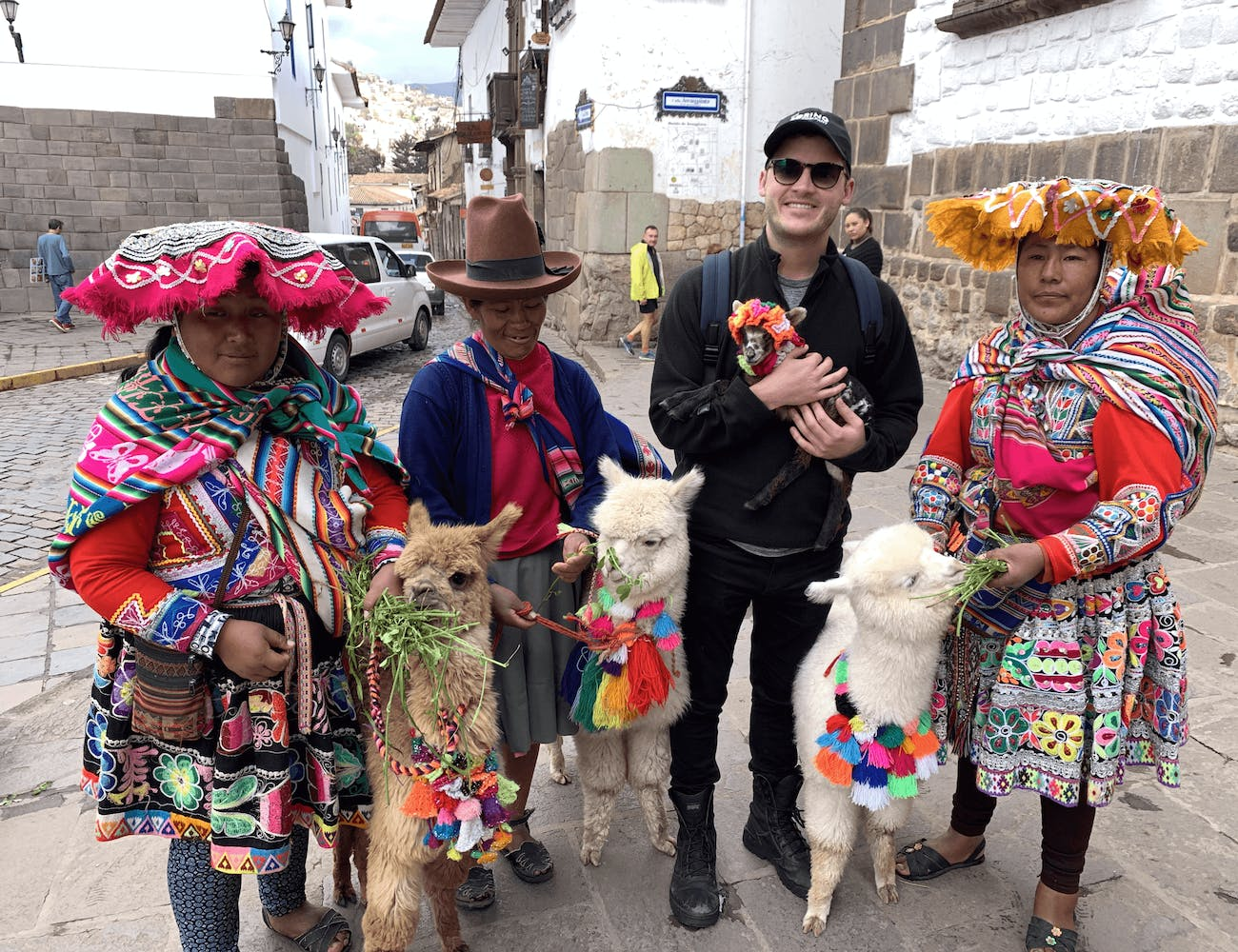 Photoshoop with Alpacas in Cusco, Peru