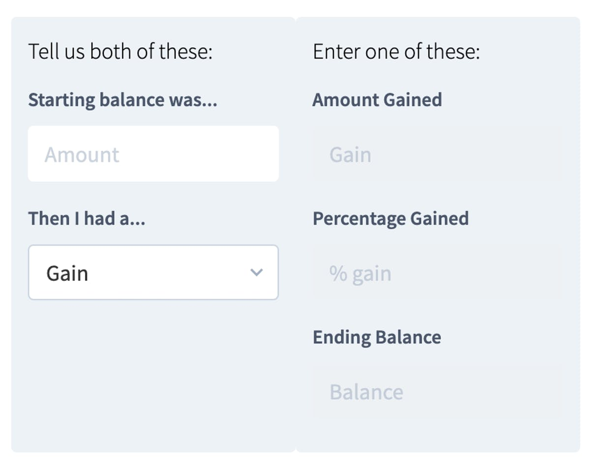 Stage one of the PNL calculator forex