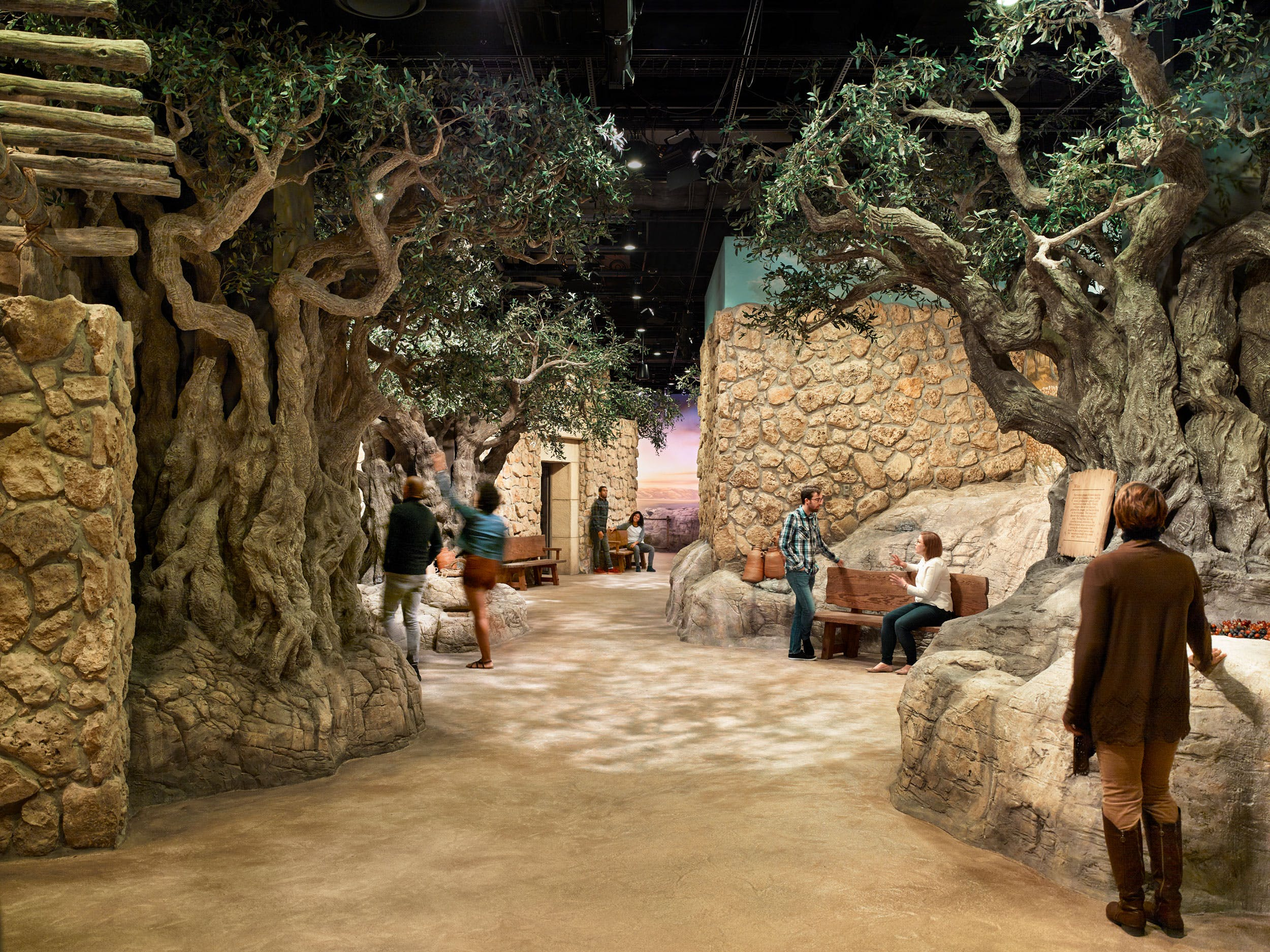 Inside The World of Jesus of Nazareth exhibit on the third floor of Museum of the Bible.