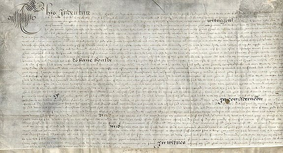 "English Indenture for 13 Ships, Including ""The Mayflowere"""