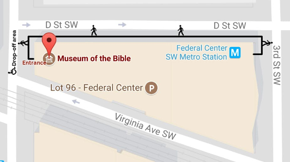 Museum of the Bible Accessibility Map