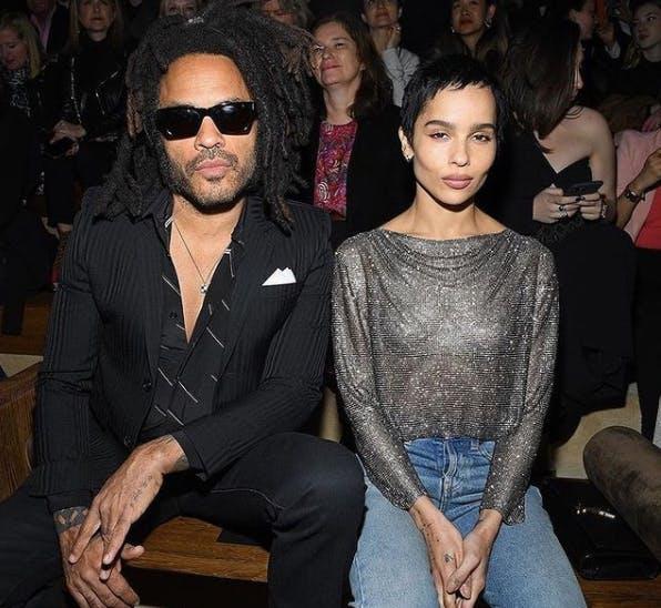 Lenny Kravitz and Zoë Kravtiz