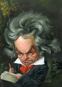 Beethoven musical caricature