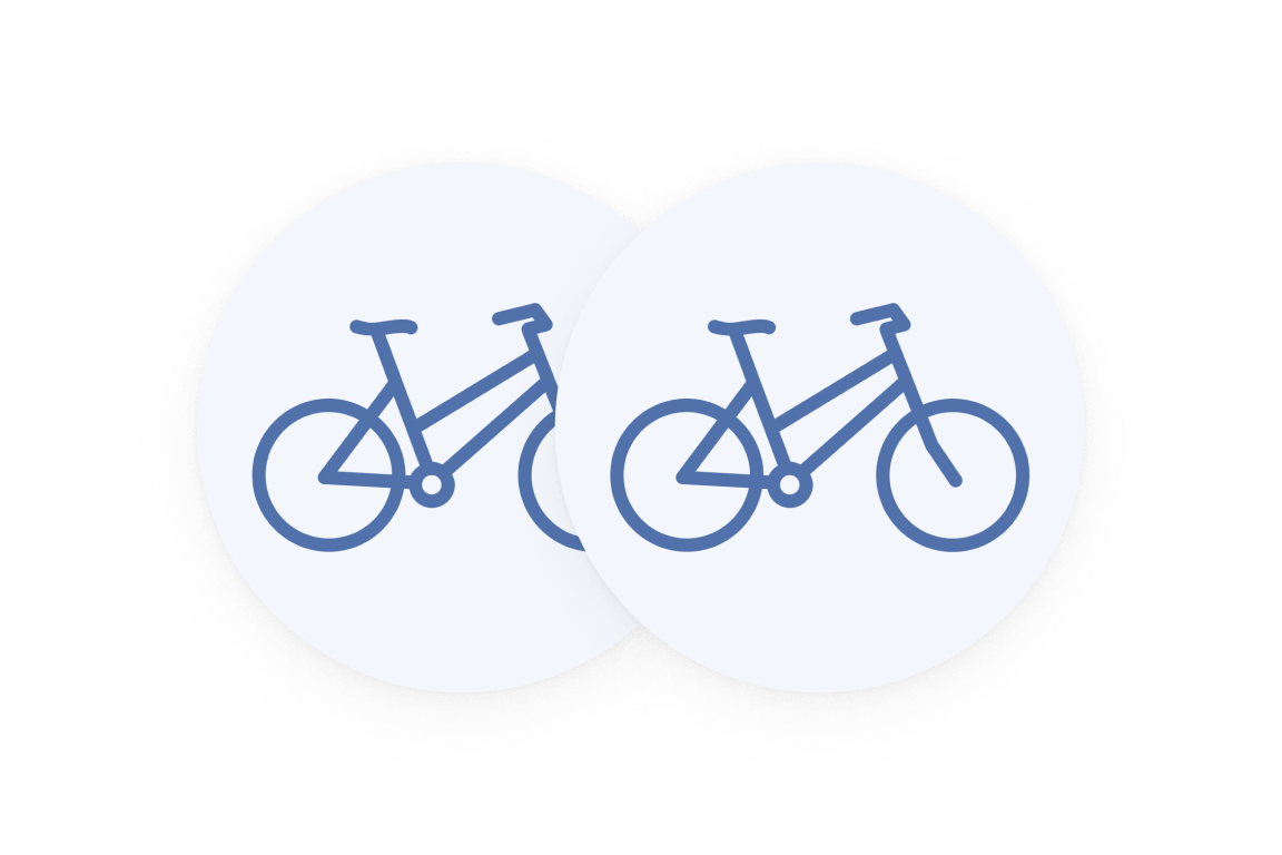 Two bicycles icon