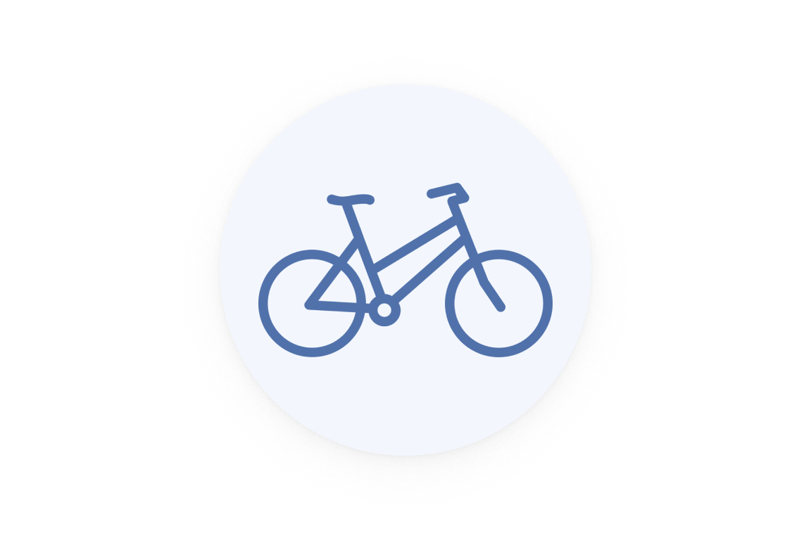 One bicycle icon