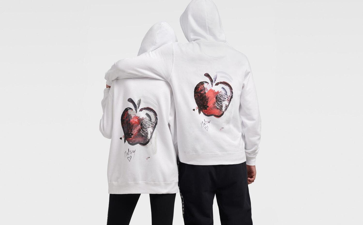 Two people wearing Halsey Hoodie